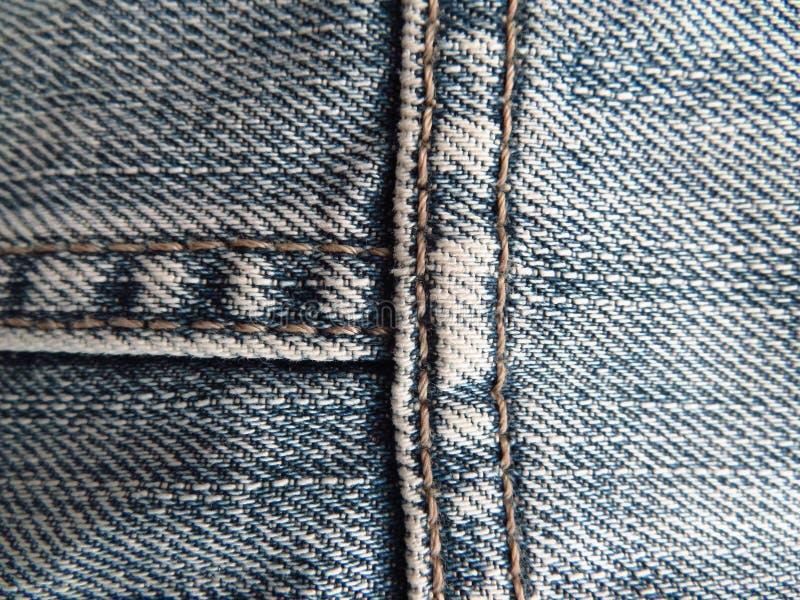 Текстура голубых джинсов стоковая фотография