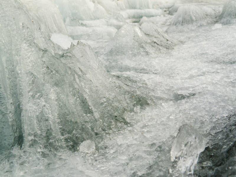 Текстура дезинтегрировать candelized плавя льдед стоковые изображения rf