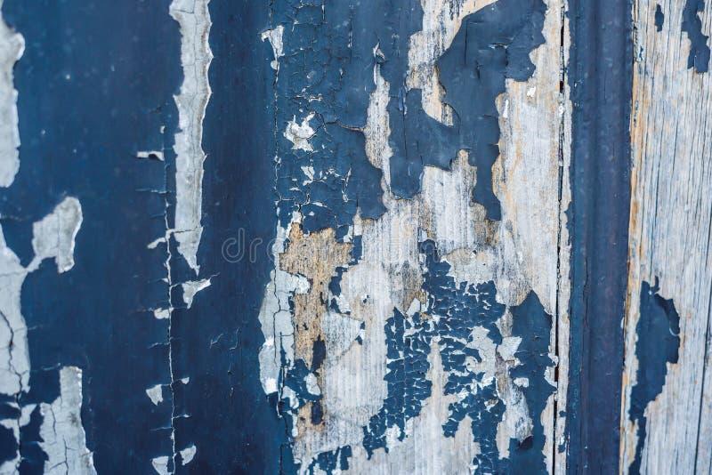 Текстура деревянной доски, покрытая со старой голубой краской Винтажная предпосылка и обои с космосом для текста или стоковое изображение