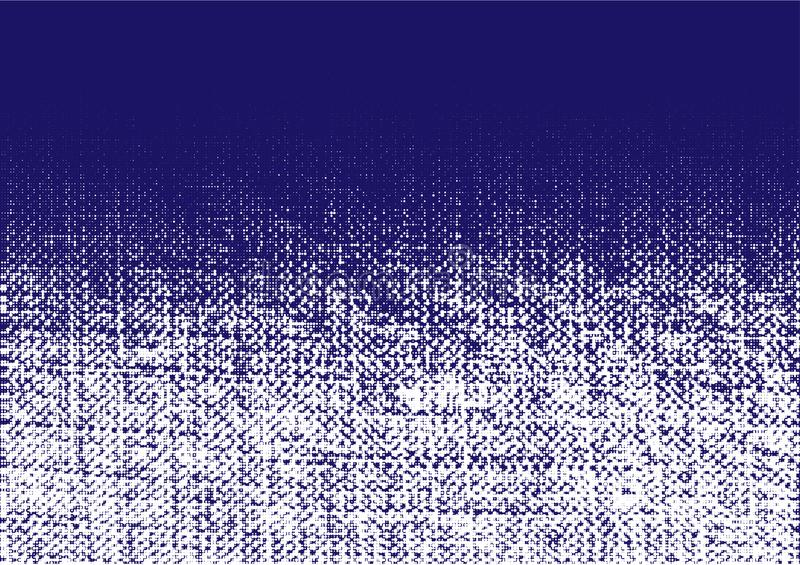 Текстура джинсов грубая Скомканная мешковина Влияние grunge холста Картина точек предпосылки ткани джинсов градиента r иллюстрация вектора