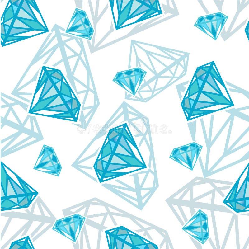 текстура диамантов безшовная иллюстрация вектора