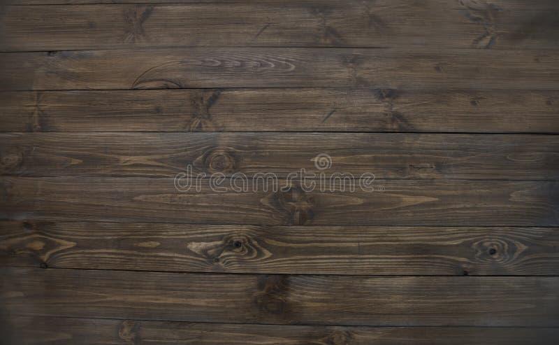 текстура естественной темной древесины, деревянных коричневых плоских доск стоковые фото