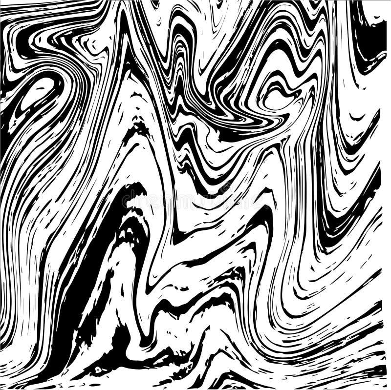 Текстура жидкости мрамора или чернил иллюстрация вектора