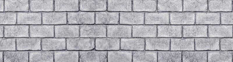 Текстура затрапезной серой конкретной стены блока кирпича широкая Большая grungy предпосылка стоковые фотографии rf