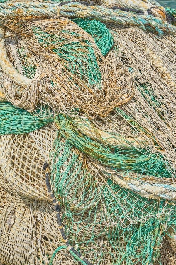 Текстура зеленых и белых Fishnets стоковая фотография rf