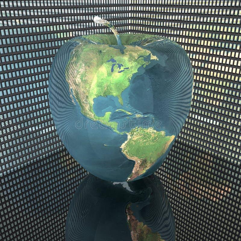 текстура земли яблока яркая иллюстрация штока