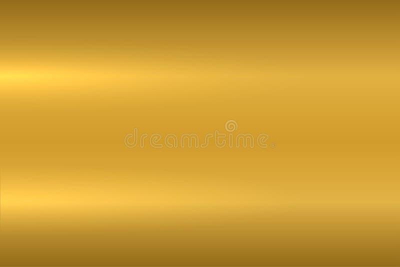 Текстура золота металлическая Отполированная поверхность металла Предпосылка вектора иллюстрация штока