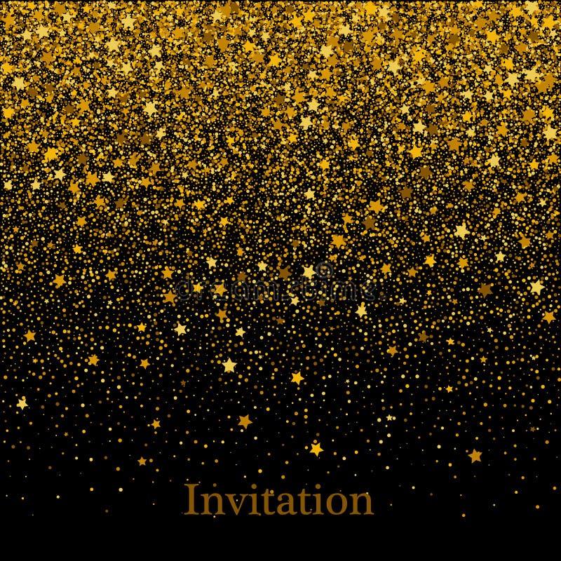 Текстура золота яркого блеска в форме сердца на черной предпосылке предпосылка красит желтый цвет праздника красный Золотая зерни иллюстрация вектора