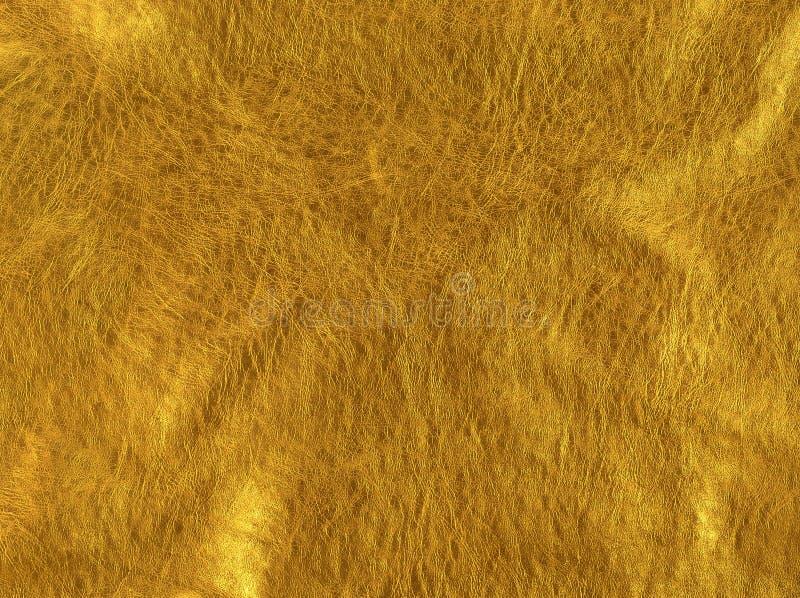 Текстура золота кожаная для предпосылки стоковая фотография rf