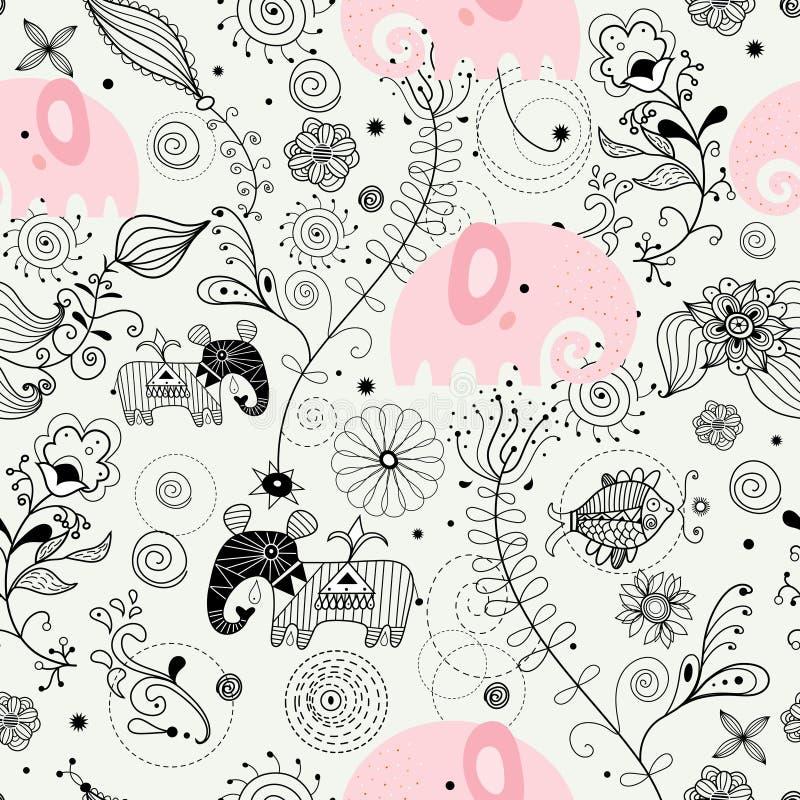 текстура изображения слонов иллюстрация вектора