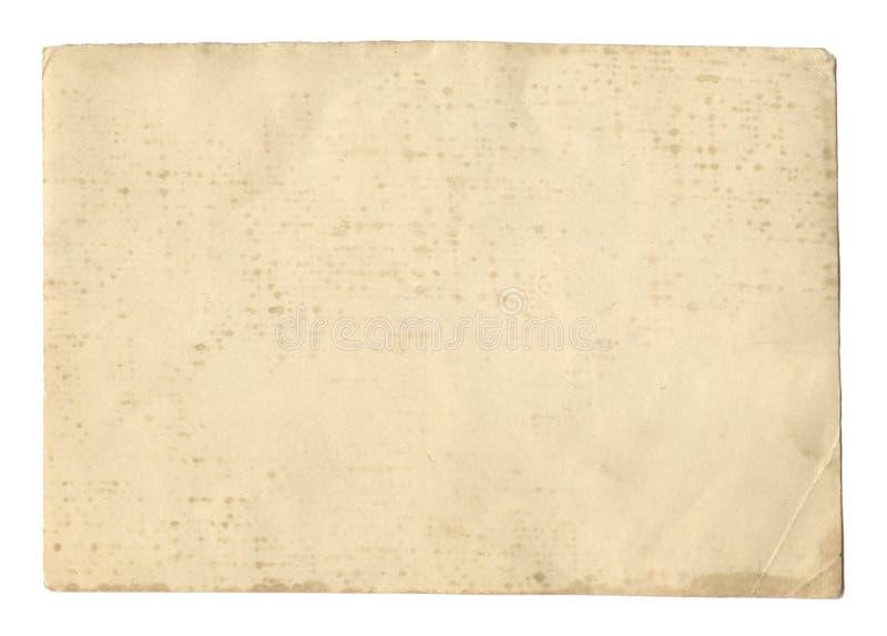 Текстура или предпосылка винтажного коричневого цвета стиля старая бумажная, с неровными сорванными краями стоковые изображения