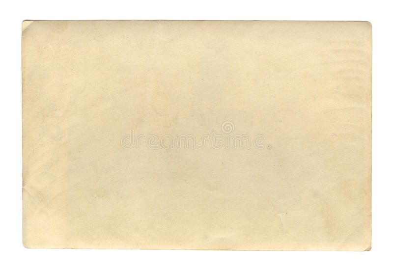 Текстура или предпосылка винтажного коричневого цвета стиля старая бумажная, с неровными сорванными краями стоковое фото