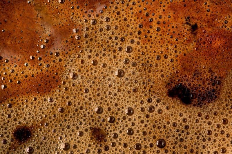 Текстура и предпосылка пены кофе стоковое изображение