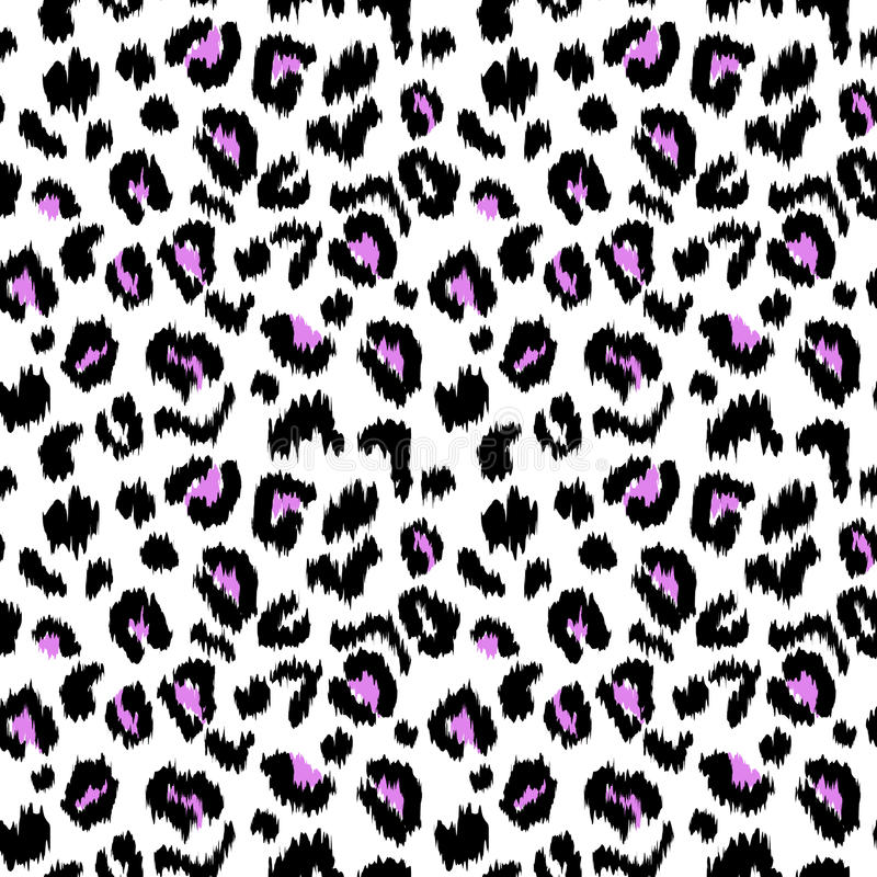 Текстура картины вектора печати леопарда безшовная иллюстрация вектора