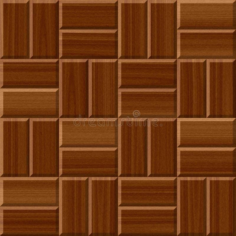Текстура картины плиток пола темного коричневого цвета деревянная безшовная иллюстрация вектора