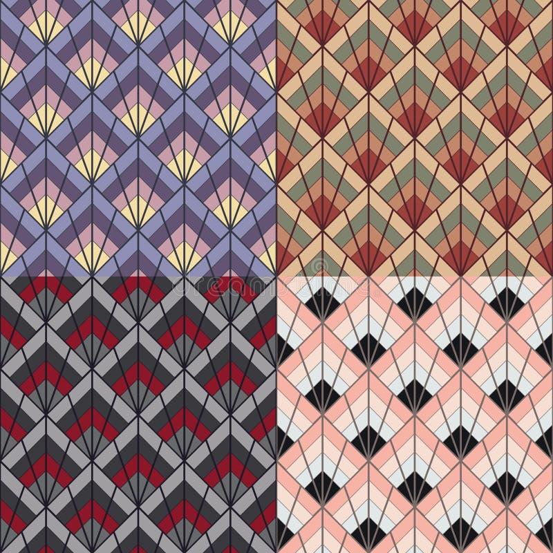 Текстура картины стиля стиля Арт Деко безшовная иллюстрация вектора