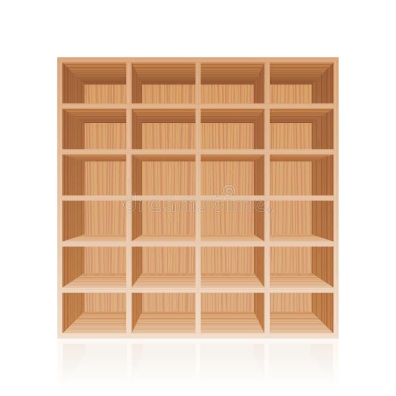 Текстура книжной полки шкафа деревянная иллюстрация штока