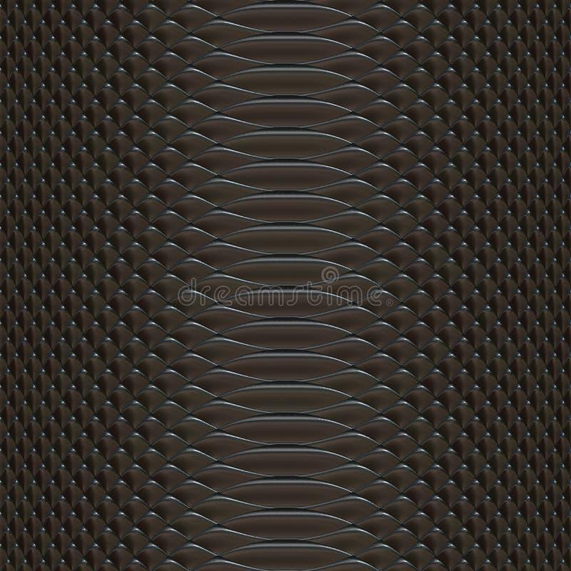 Текстура кожи змейки произведенная иллюстрация вектора