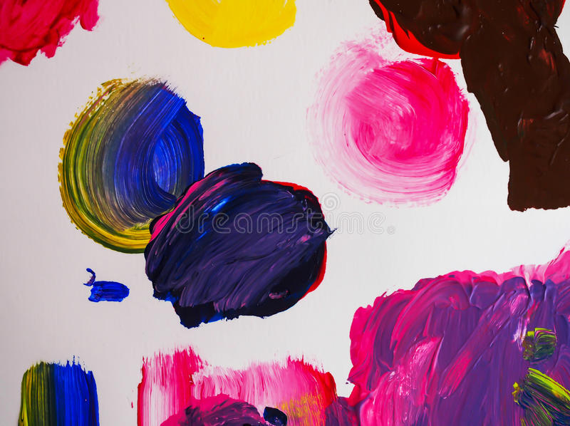 Текстура конспекта предпосылки картины искусств акриловая стоковые изображения rf