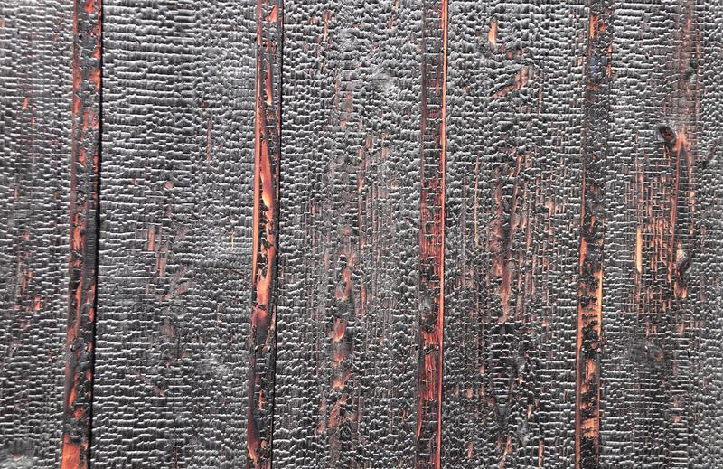 Текстура, который сгорели деревянных доск стоковая фотография rf