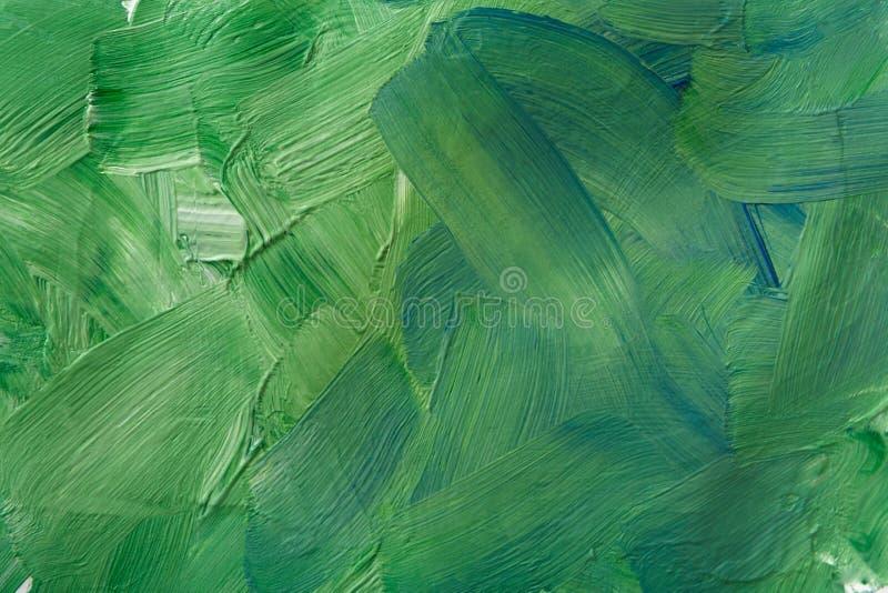 Текстура краски масла, абстрактная зеленая предпосылка стоковые изображения