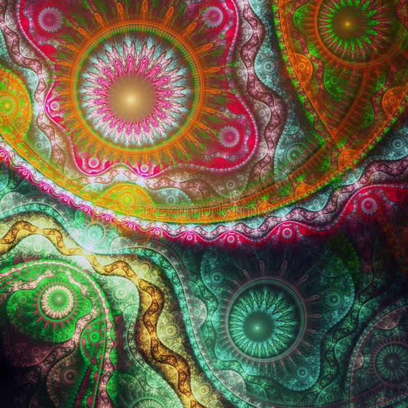Текстура красочной фрактали кружевная бесплатная иллюстрация