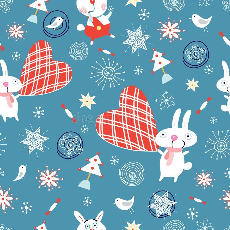 текстура кроликов праздников иллюстрация штока