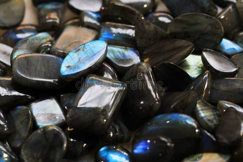 Текстура лабрадорита минеральная стоковые изображения rf