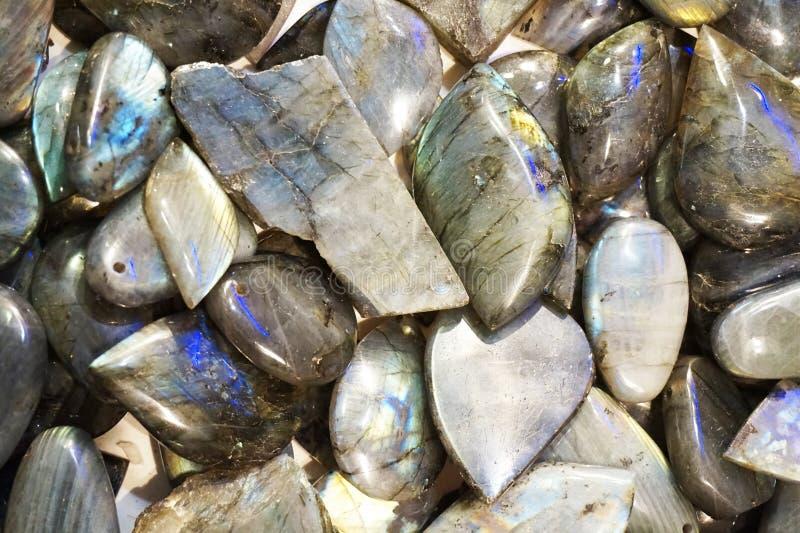 текстура лабрадорита минеральная стоковая фотография