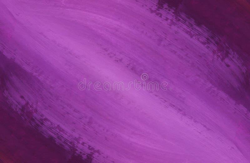 Текстура макроса покрашенной поверхности Метки щетки на краске Хаотические ходы фиолетового, пурпурного и белого цвета стоковые изображения