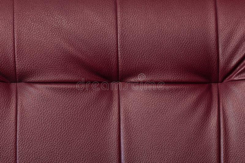 Текстура мебели chili красной кожаной стоковые фотографии rf