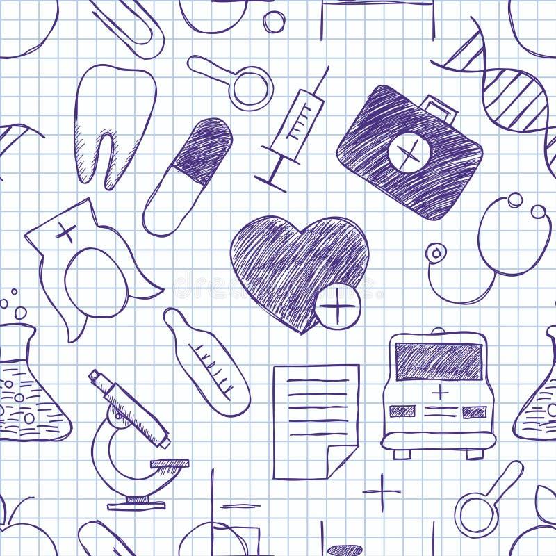 Текстура медицины безшовная бесплатная иллюстрация
