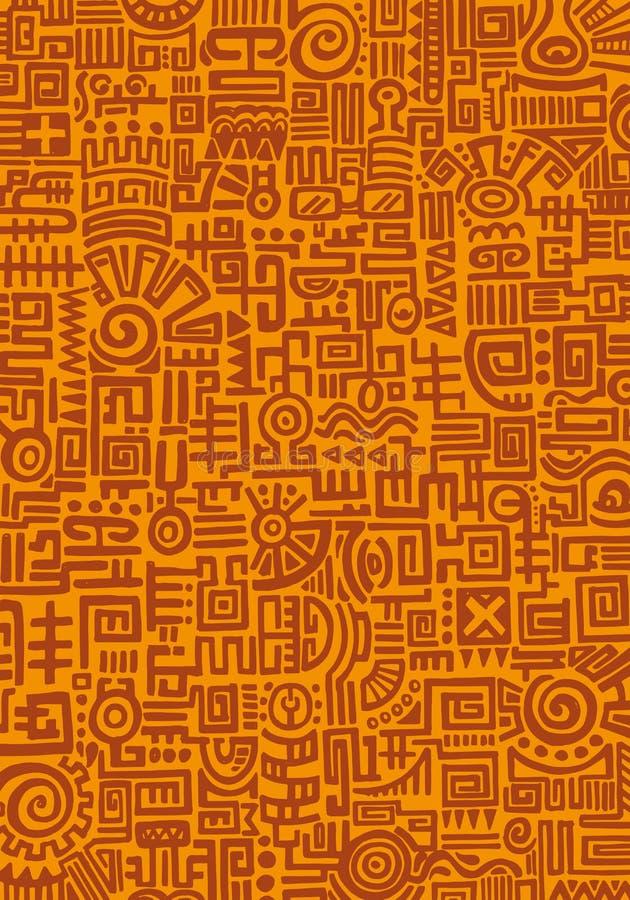 Текстура мексиканца Handmage иллюстрация вектора