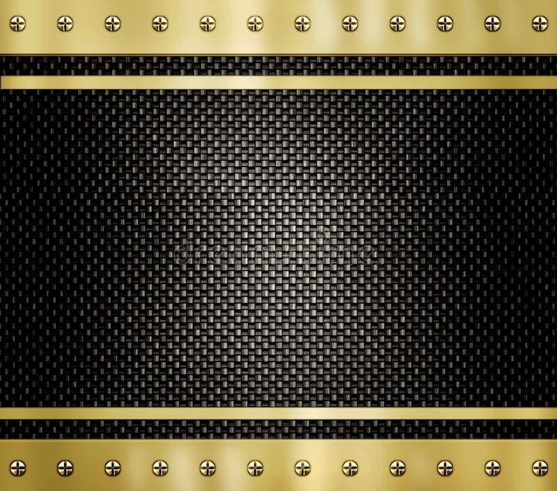 текстура металла золота предпосылки иллюстрация штока