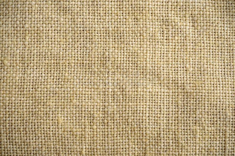 Текстура мешковины льнен Конец предпосылки ткани вверх Макрос стоковая фотография rf