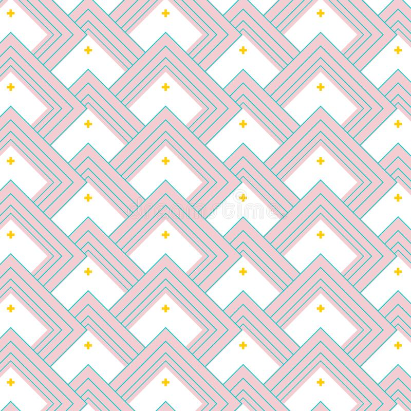 Текстура мозаики вектора Керамическая минимальная футуристическая крышка повторения прямоугольника Простое современное линейное и бесплатная иллюстрация