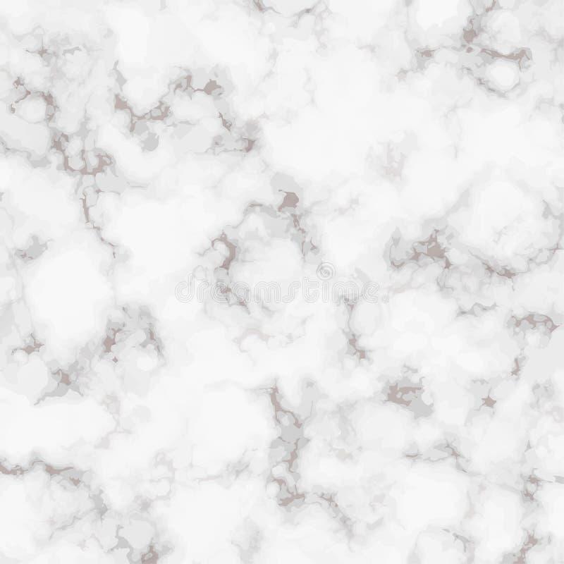 Текстура мрамора вектора реалистическая Белая мраморная картина утеса Элегантная предпосылка для вашего дизайна Квадратная плитка бесплатная иллюстрация