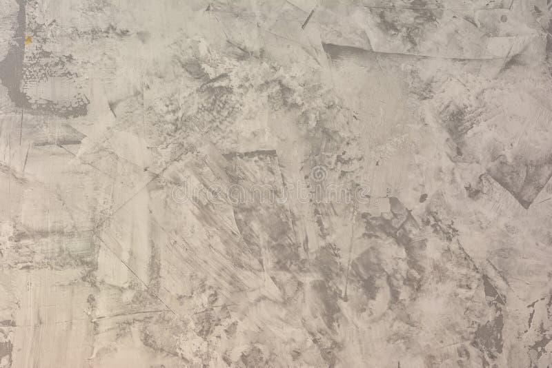 Текстура неровной заштукатуренной серой стены Абстрактная светлая предпосылка Замазка с пятнами и шершавостью Основа для стоковое изображение rf