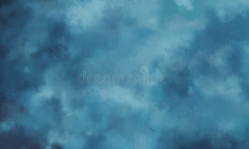 Текстура облака конспекта цифровая покрашенная голубая Может быть по бесплатная иллюстрация