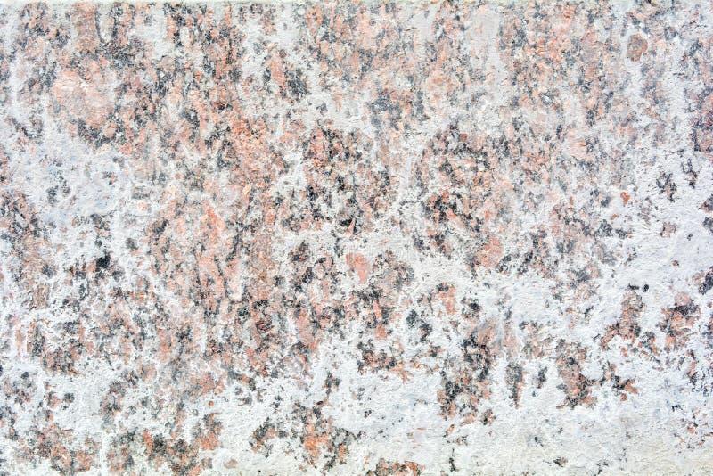 Текстура отполированного пола гранита каменного с белой плотной грязью как мел или известка стоковые фото