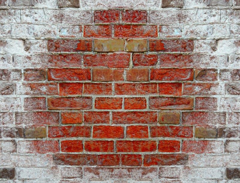 Текстура от кирпичной стены покрытой с солью стоковое фото