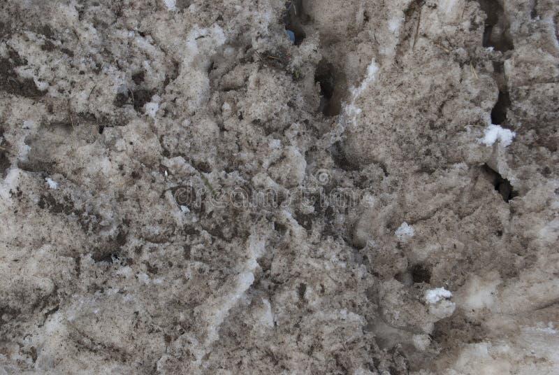 Текстура пакостного конца-вверх снега стоковые изображения