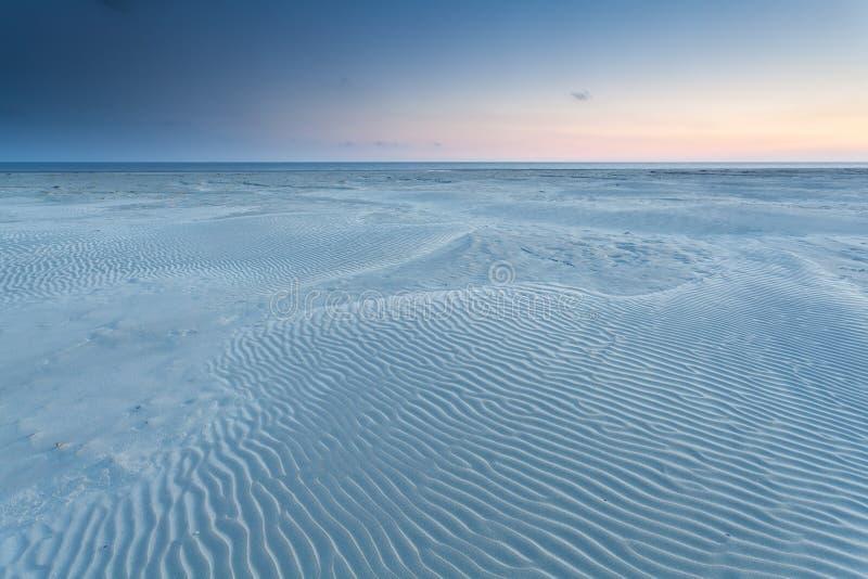 Текстура песка на пляже Северного моря стоковое фото