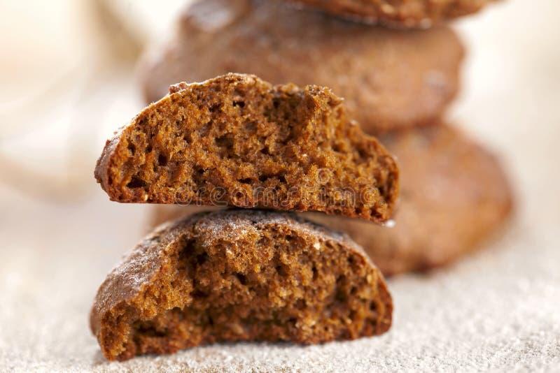 текстура печений halved имбирем мягкая spiced стоковые фото