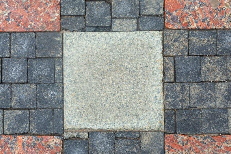 Текстура плитки перекрестная дороги стоковое фото