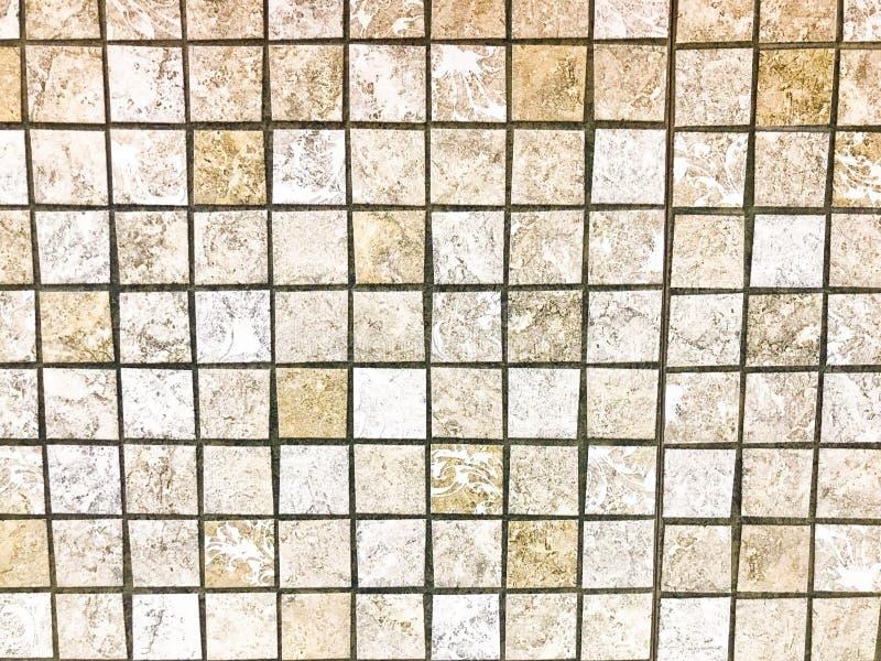 Текстура плиток небольшого квадрата керамических коричневых декоративных, мозаики со швами для bathroom, кухни зелень gentile пре стоковое фото