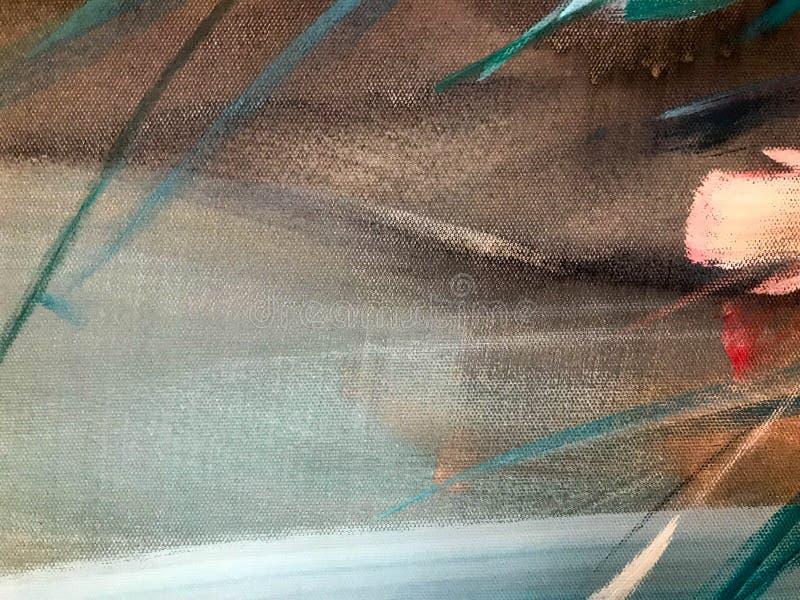 Текстура покрашенной пестрой краски пестротканой бумаги, картона с линиями нашивок запятнала с пятнами краски серого красного жел стоковые изображения