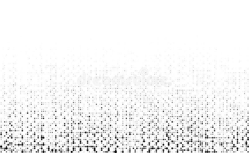 Текстура полутонового изображения Grunge грубая Скомканная мешковина холстина Предпосылка ткани используя картину точек круга пол иллюстрация вектора