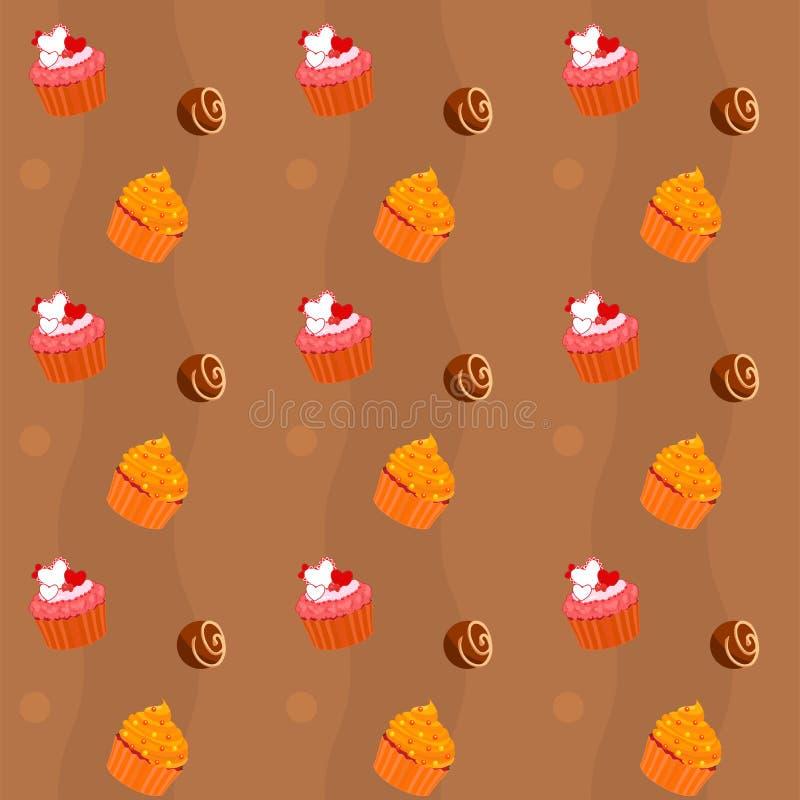 текстура помадок пирожнй шоколада безшовная иллюстрация штока