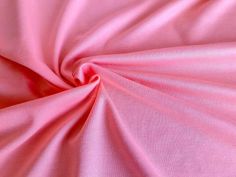 Текстура, предпосылка, картина, хлопко-бумажная ткань цвета персика мягкая Это белье может быть используемыми вершинами, проектам стоковые изображения